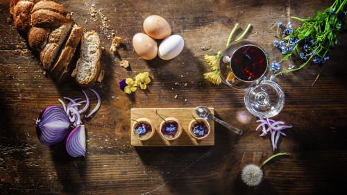 Antipasti Agriturismo Bon Tajer - Crema d'uovo con Cipolla